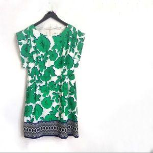 •Eliza J• Green Floral Summer Dress